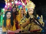 श्रीनगर में राम वनवास पर झांकी निकाली