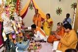 रोज़ा पावर टाउनशिप में मां दुर्गा पूजा का शुभारम्भ