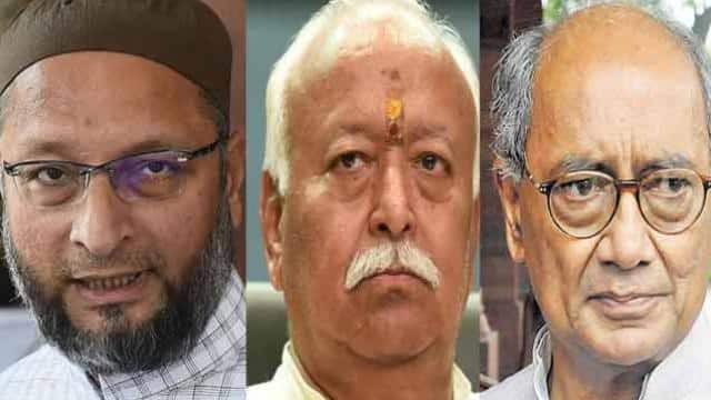 know  what asaduddin owaisi and digvijay singh said on mohan bhagwat s statement on lynching