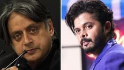 shashi tharoor  s sreesanth  ani file photo