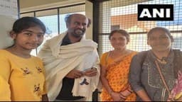rajinikanth at swami dayananda ashram in rishikesh after darbar shooting