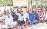 सितारगंज में ठेका प्रथा का विरोध जारी