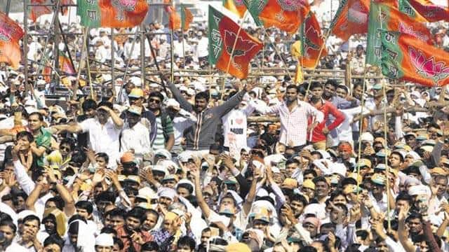 a file photo of a bjp rally in mumbai   ht pic