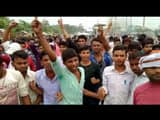 supaul  angry bss college students jammed nh 327a for 12th pre exam and negligence of college