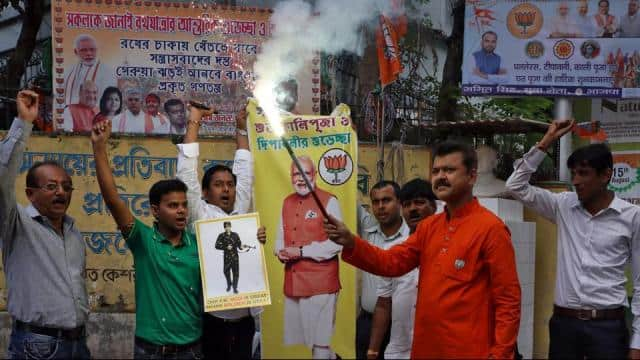 the bjp ran an aggressive campaign emphasising on national security and abrogation of article 370  t