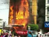 madhya pradesh  fire breaks out at a hotel in indore