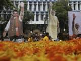 the bharatiya janata party-shiv sena  bjp-ss  alliance counting leads in   maharashtra are not as reso