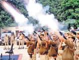 पुलिस लाइन में दंगा नियंत्रण का हुआ रिहर्सल