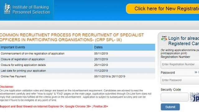 ibps releases specialist officer recruitment notification know ibps so registration rules eligibilit