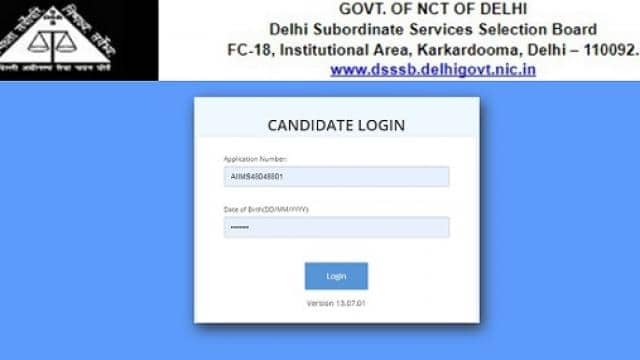dsssb prt admit card 2019  delhi subordinate services selection board releases admit card for assist