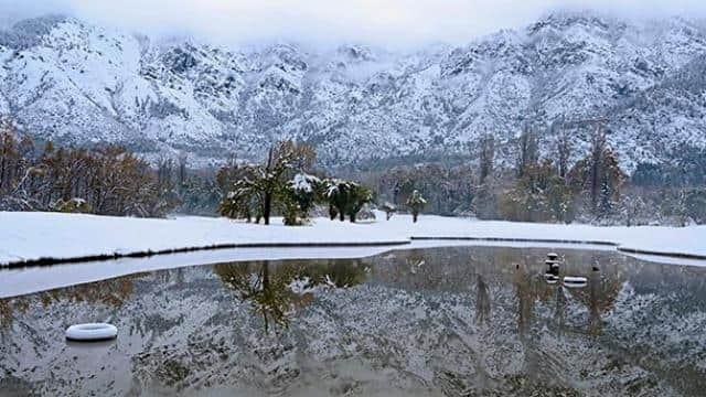 heavy snowfall disrupts water and electricity supply in kashmir