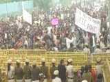 jnu students stage massive protest against fee hike clash with cops