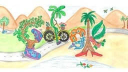 बाल दिवस पर गुरुग्राम की बच्ची की पेंटिंग बना गूगल का डूडल
