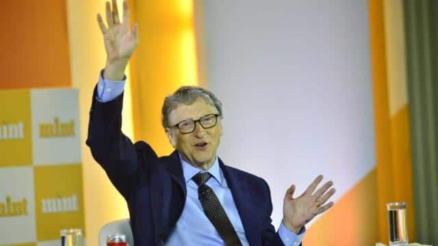 bill gates  who co-chairs the bill and melinda gates foundation  at mint visionaries in new delhi on