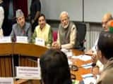 at the meeting attended by 27 parties  prime minister modi said most important job of the house is t