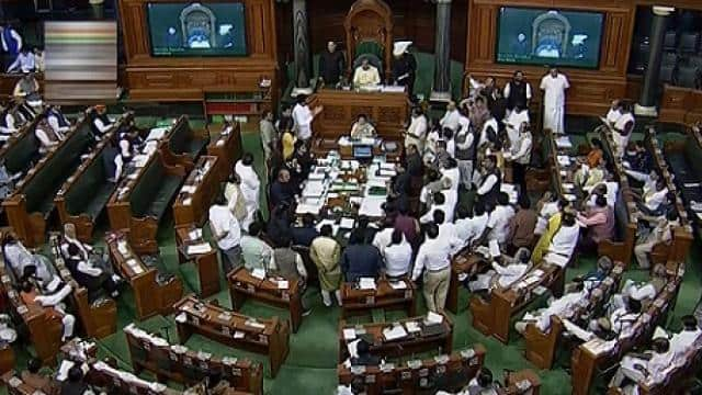 lok sabha during the winter session of parliament