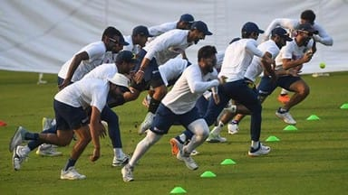 india and bangladesh cricket team practice session at the eden gardens
