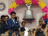 sheikh hasina and west bengal cm mamata b anerjee ring the bell at the iconic eden gardens photo ani