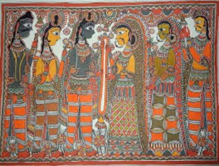 मधुबनी पेंटिंग यानी मिथिला पेंटिंग की शुरुआत सातवीं-आठवीं सदी में हुई। तिब्बत के थंका आर्ट से प्रभावित चित्रकारी की यह लोककला विकसित हुई। फिर 13वीं सदी में पत्थरों पर मिथिला पेंटिंग होने लगी।...