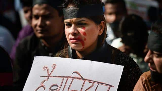 people protest against the rape and brutal murder in hyderabad