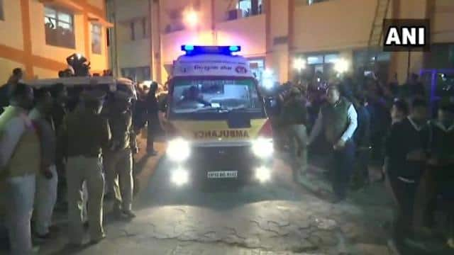 lucknow   unnao gang rape victim is being taken to lucknow airport from where she will be airlifted