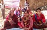 आवासीय भूखंड को लेकर ग्रामीणों का धरना जारी