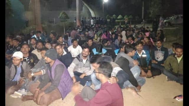 bhagalpur  ruckus over expulsion of two bau students who staged protest against unemployment