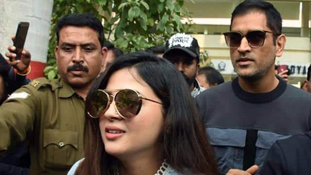 ms dhoni along with his wife sakshi dhoni arrive for the cast their vote in ranchi