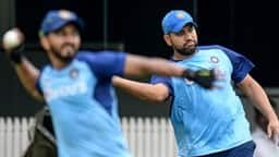 team india and west indies players at training session ahead of the first odi