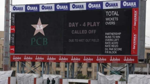 pakistan vs sri lanka match called off due to wet out field during the 4th day  ap