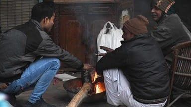 photos  severe cold in north india