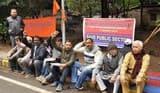 भारतीय मजदूर संघ का डीसी ऑफिस पर प्रदर्शन
