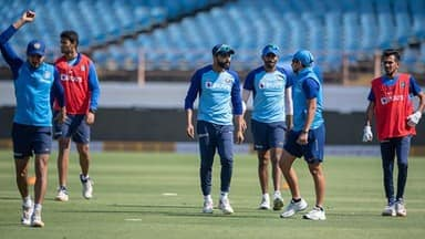 indian cricket team during practice session before the second odi match in rajkot