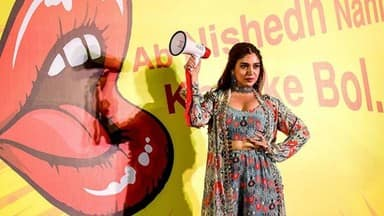 bollywood actress bhumi pednekar during the launch of the new drama series nishedh