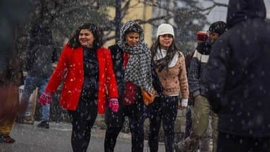 heavy snowfall in shimla-kufri