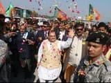 bjp president jp nadda arrived at jewar to address public meeting   photo   hindustan