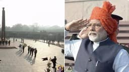 pm narendra modi pays tribute at national war memorial
