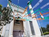 the palayam juma masjid in thiruvananthapuram  one of the oldest mosques in kerala  decked up on rep