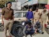 टावर बना रही कंपनी के दो कर्मचारी केबल चोरी में गिरफ्तार