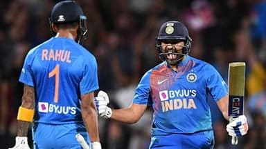 rohit sharma twin super over sixes seal maiden t20i series win in nz