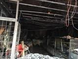 इंद्रा चौक में स्वीट शॉप में भीषण आग