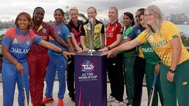 captains of the 10 countries participating in a event before women t20 world cup in sydney