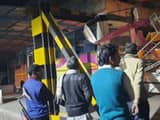 bus filled with children rammed into ivri underpass roof of bus collided with barrier