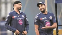 harbhajan singh and rohit sharma