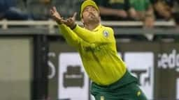 south africa s pite van biljon attempts a catch from australia s batsman matt wade  ap
