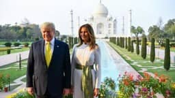 trump and melania at tajmahal india