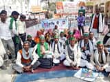 bhakiu demonstrated on tehsil with demands