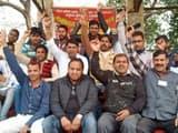 ambulance workers sitting on indefinite strike in lakhimpur