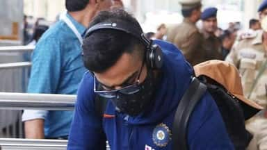 team india reached lucknow for second odi players seen wearing masks