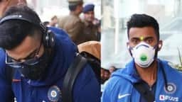 virat kohli and kl rahul wearing mask photo twitter